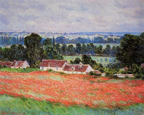 Poppy Field at Giverny, 1885 - Claude Monet - WikiArt