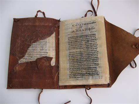 MY reproduction of one of the Nag Hammadi Codices