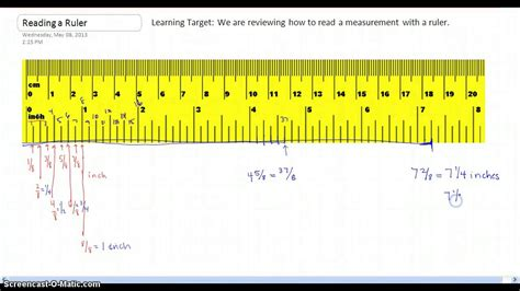 How to read measurements on a ruler