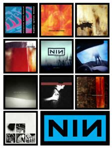 NINE INCH NAILS 10 album cover discography magnets lot
