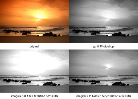 PHP Imagick - convert image to greyscale (very bad result