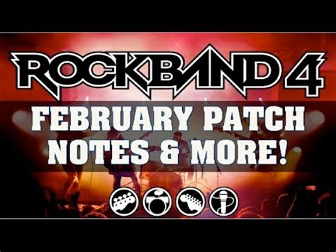 Rock Band 4 News: February Patch Details Revealed & Legacy
