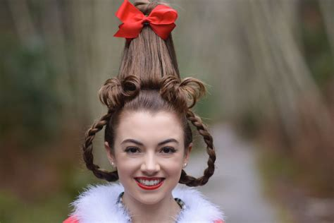 Happy Christmas Eve from Cindy Lou Who | Hairstyles By Gabby