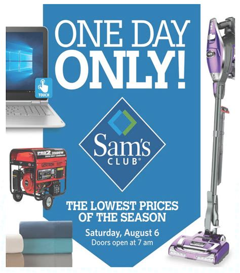 Sam's Club One Day Only Sale: Lowest Prices of the Season