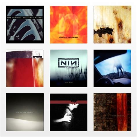 Nine inch nails, Album covers and Nine d'urso on Pinterest